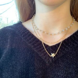 Jewelry - gold marble star charm necklace